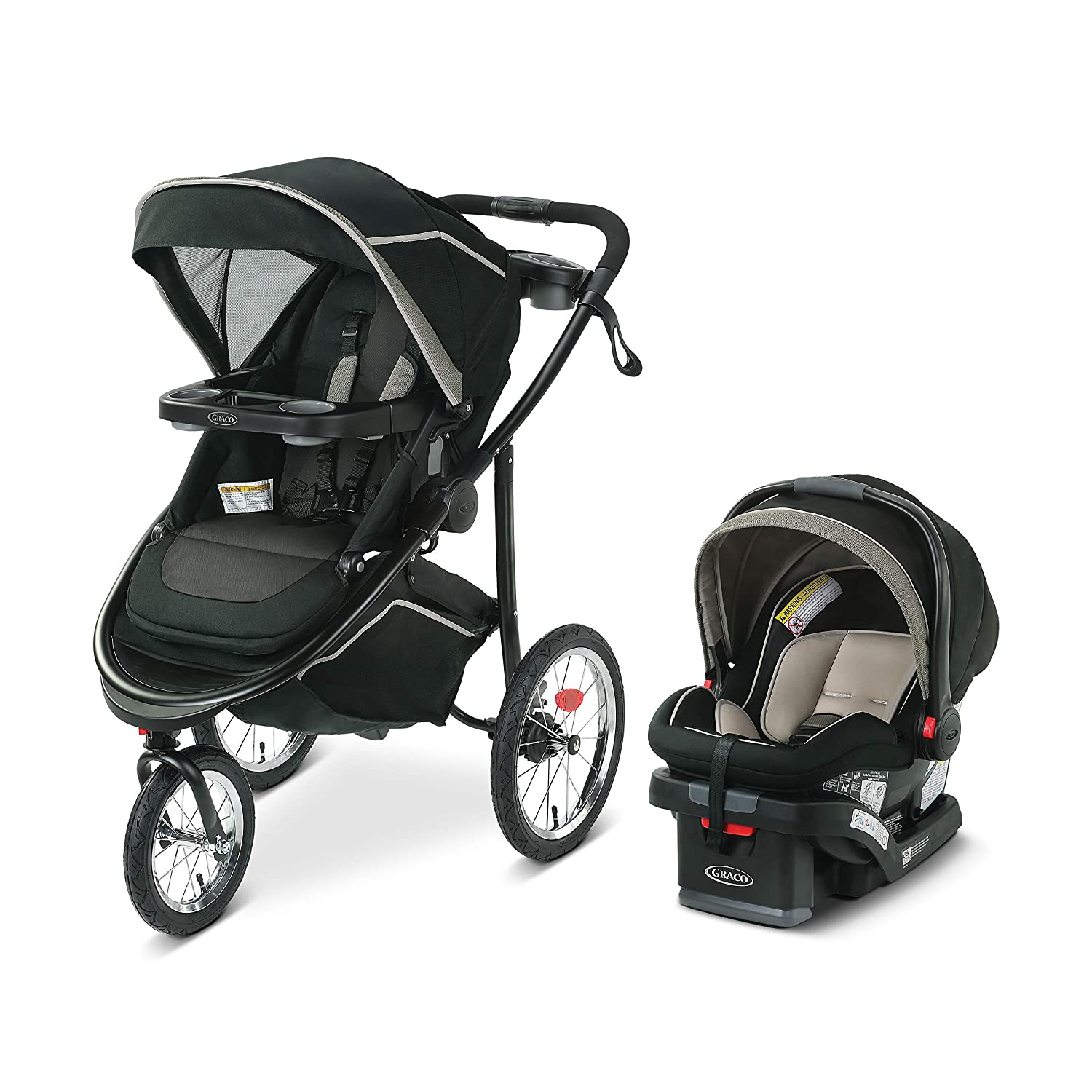 Graco Modes Jogger 2.0 Travel System Includes Jogging Stroller and SnugRide SnugLock 35 LX Infant Car Seat, Haven