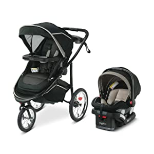 Graco Modes Jogger 2.0 Travel System | Includes Jogging Stroller and SnugRide SnugLock 35 LX Infant Car Seat, Haven