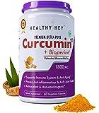 Healthyhey Nutrition Curcumin With Bioperine 1300Mg (Ultra Pure) Organic Turmeric, Vegetable Caps With Piperine