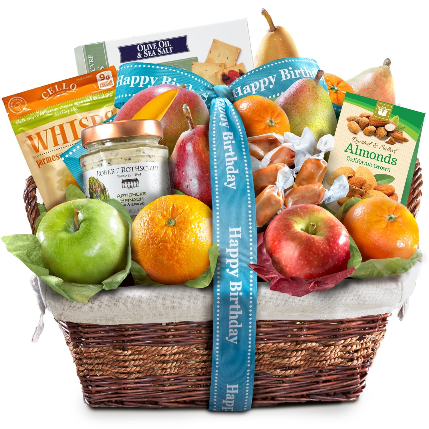 Birthday Deluxe Gourmet Fruit Basket Gift by Golden State Fruit (Image #1)