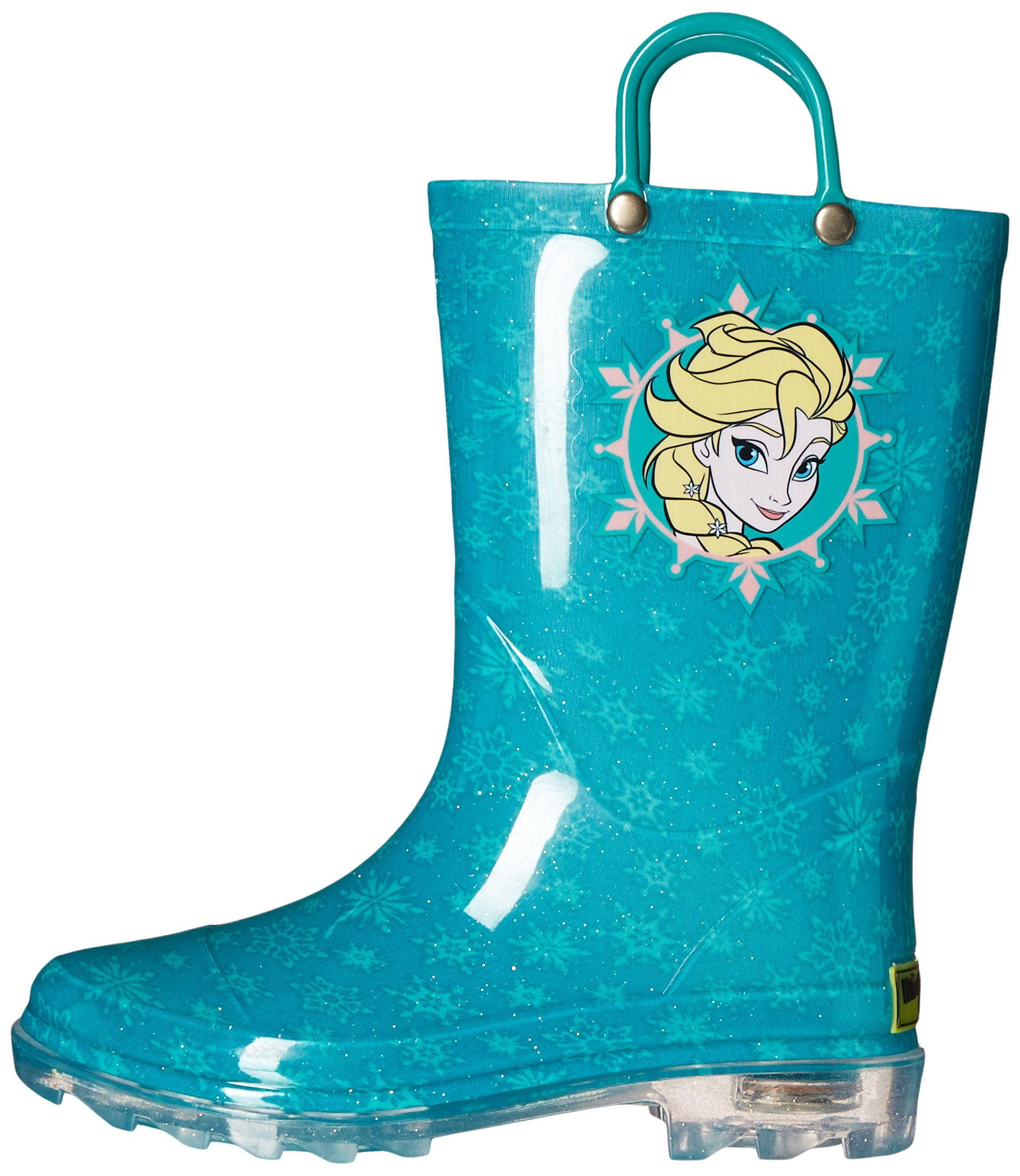 Western Chief Kids Girls' Waterproof Rain Boots That Light up with Each Step, Frozen Elsa and and, 13 M US Little Kid by Western Chief (Image #5)