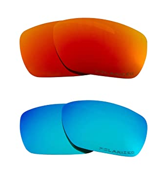 df04ccee78 Image Unavailable. Image not available for. Color  TINFOIL Replacement  Lenses Polarized Blue   Red by SEEK fits OAKLEY Sunglasses