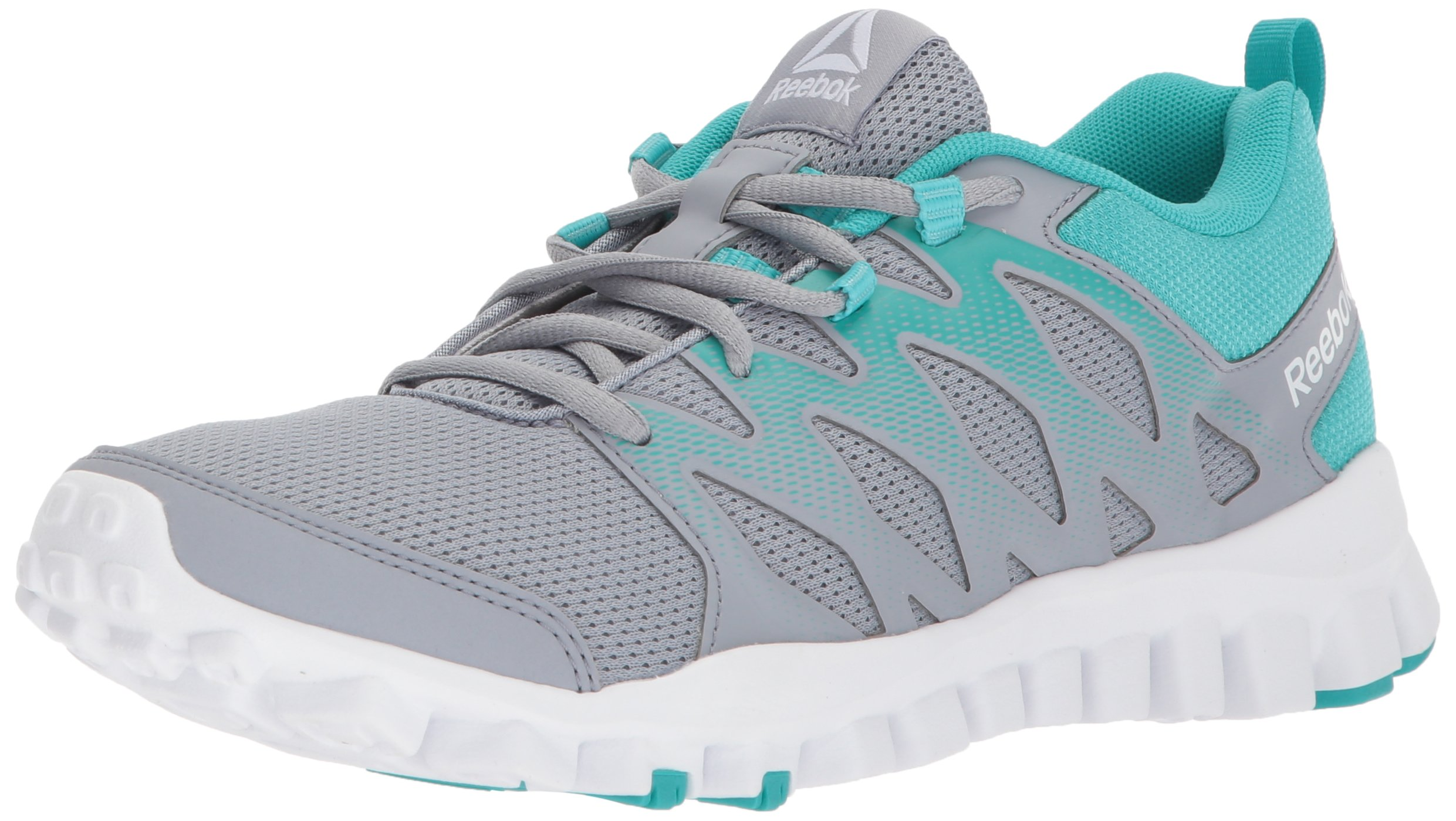 Reebok Women's Realflex Train 4.0 Cross Trainer, Cool Shadow/Solid Teal/White, 5.5 M US