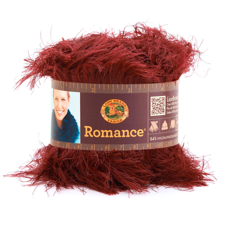 Lipstick Lion Brand Yarn 325098 Romance Yarn, Antique Lace