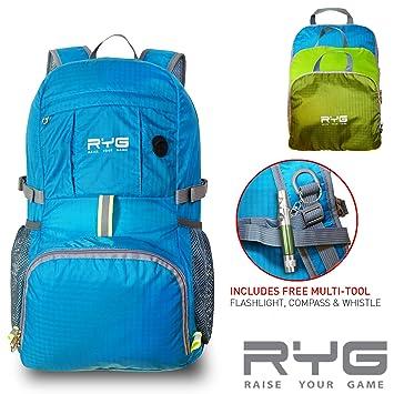 Amazon.com: Raise Your Game RYG - Mochila de viaje, plegable ...