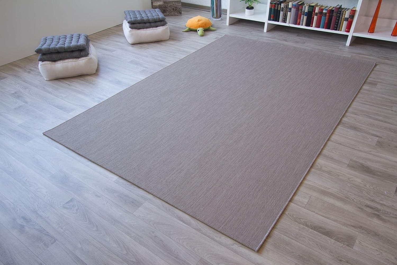 In- und Outdoor Teppich Halland Sisal Optik Beige Webteppich, GUT Siegel Zertifiziert, Größe  200x200 cm