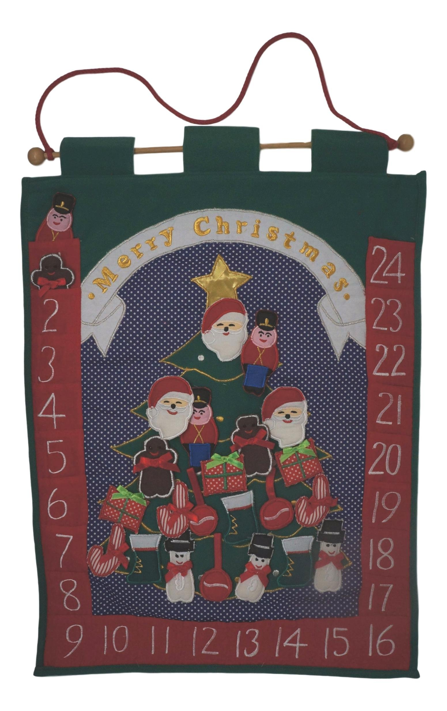 Hanging Hand-Sewn Christmas Advent Calendar by Hanging Hand-Sewn