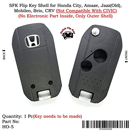 Sfk Flip Key For Honda City Amaze Jazz Old Mobileo Brio Crv