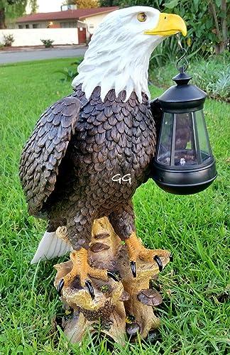 Solar American Bald Eagle Statue