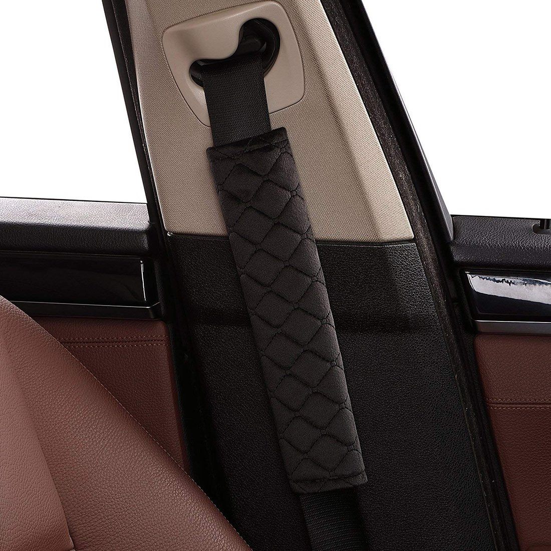 Beige Bluehare Gurtpolster im Zweierpack,Gurtpolster Auto Sicherheitsgurt B/ügel Gurtschutz,Komfort Gurtpolster Schulterpolster Polsterung f/ür Sitzgurt im Auto f/ür mehr Komfort auf der Reise