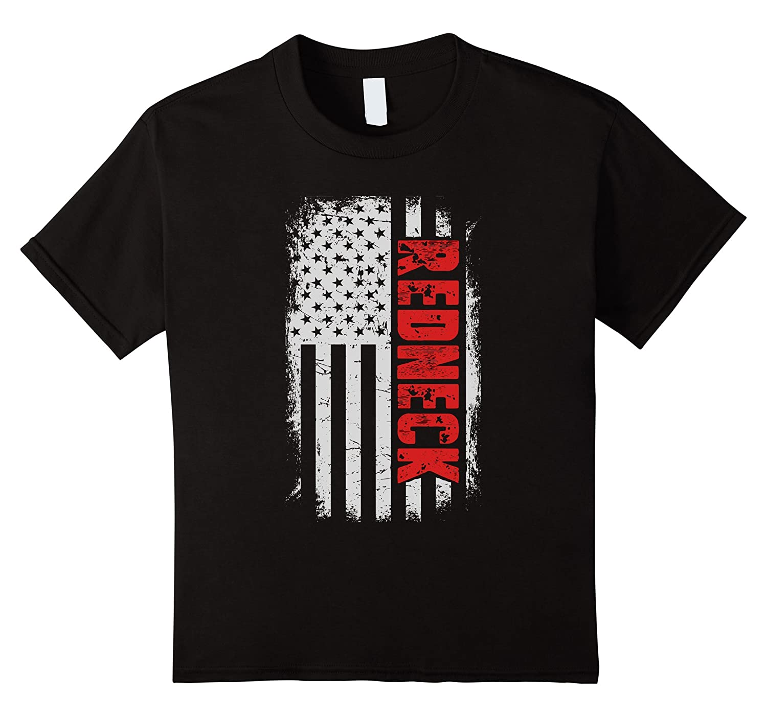 Mens Redneck American T shirt Black-Awarplus