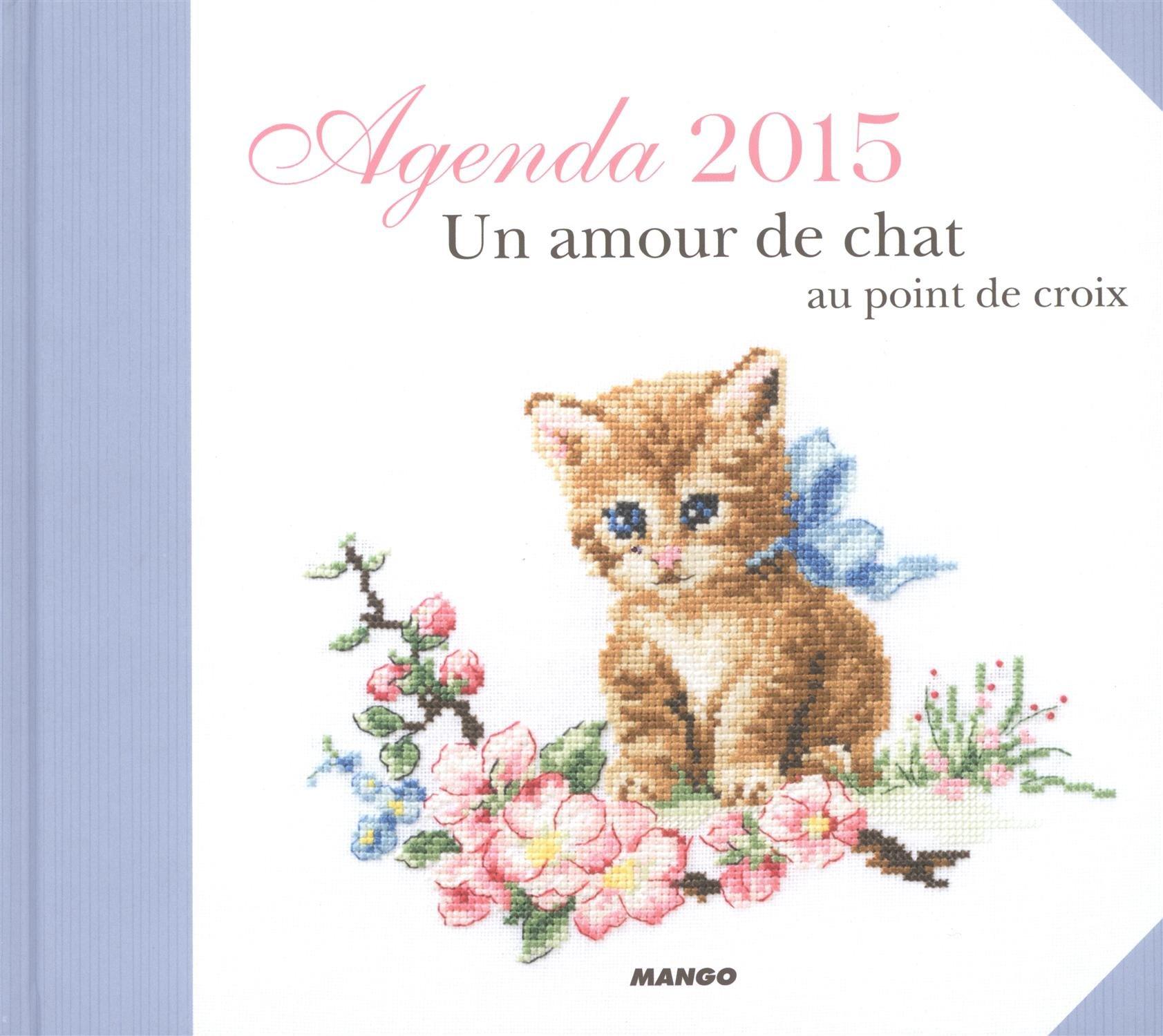 Agenda un amour de chat au point de croix
