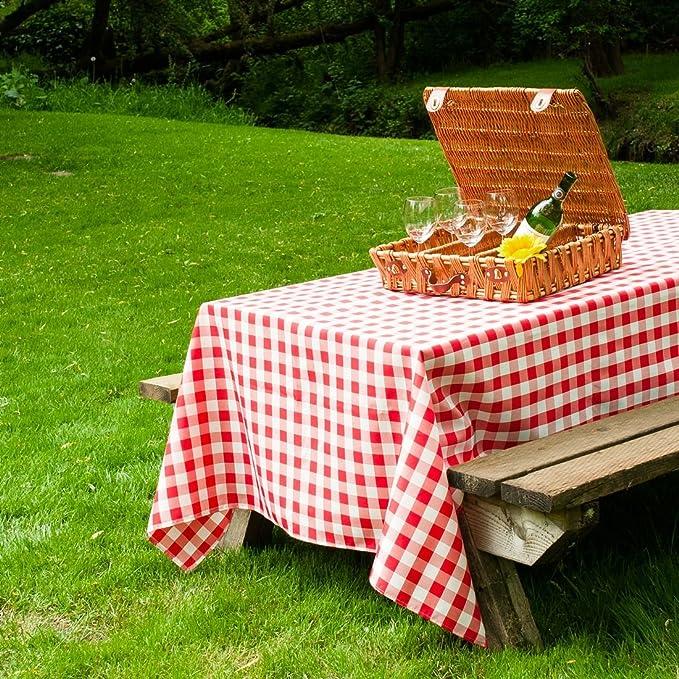 Amazon.com: LinenTablecloth 60 X 102 Inch Rectangular Tablecloth Red U0026  White Checker: Home U0026 Kitchen