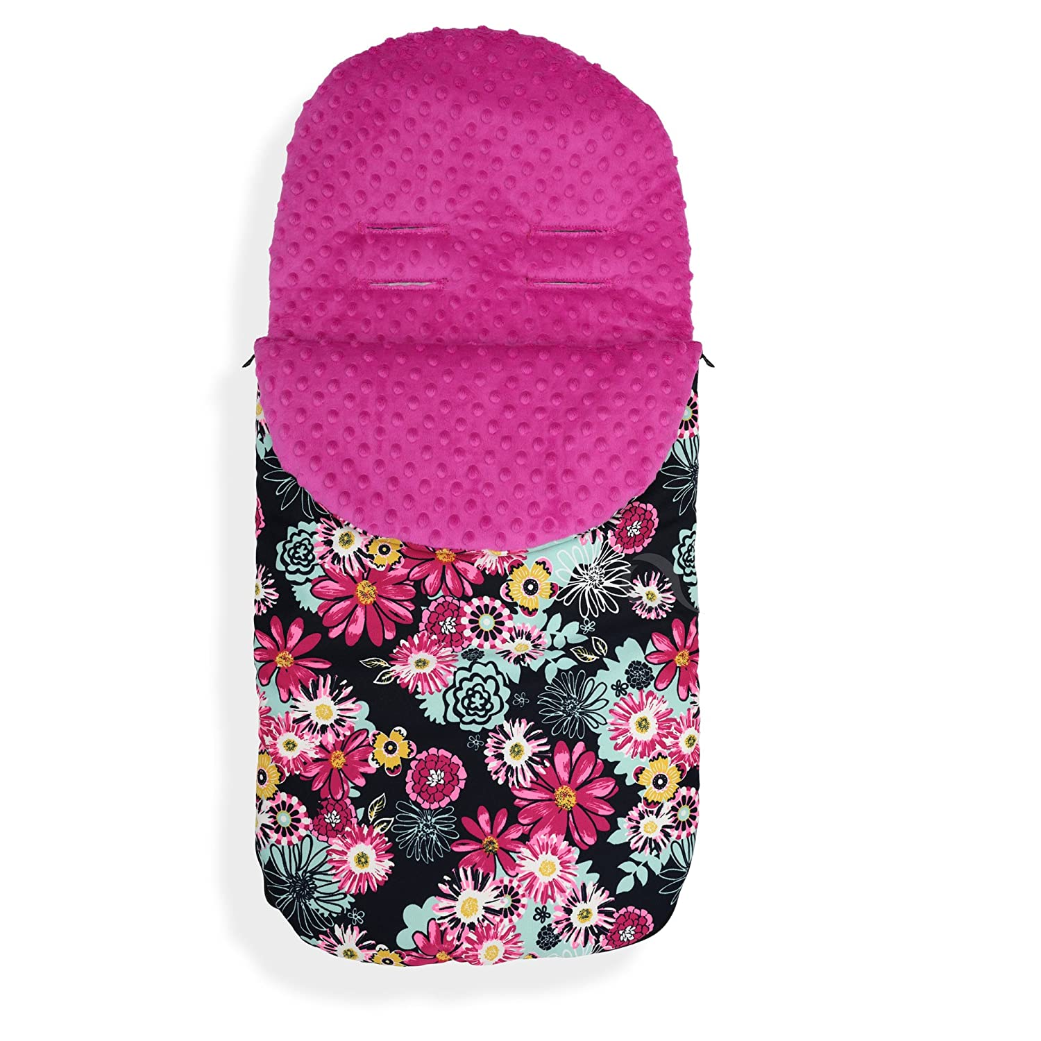 Baby Stroller cosy toes Liner Buggy Padded Luxury Foot muff Cotton Universal M hearts //grey minky