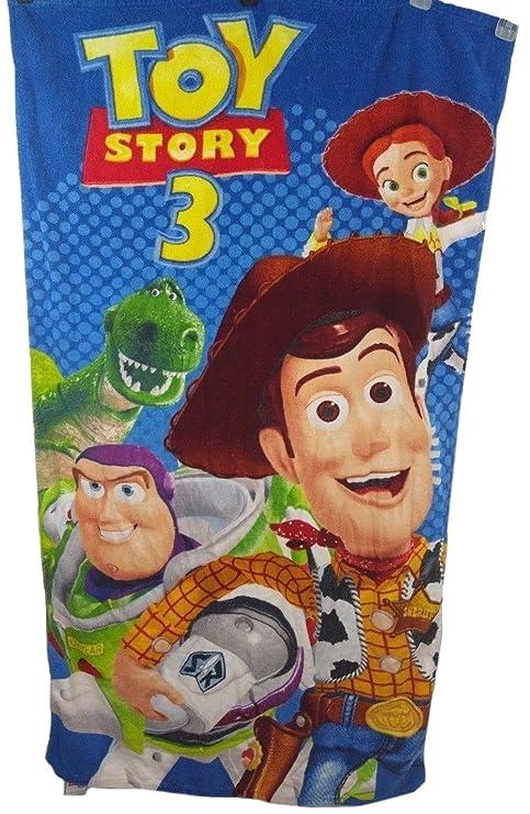 Toy Story 3 Toalla de playa de algodón para niños 30 x 60 Woody Jesse Buzz