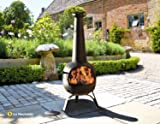 Oxford Barbecues 56135B X-Large Steel Chimenea - Black