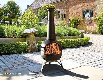 Marvelous Oxford Barbecues 56135B X Large Steel Chimenea   Black