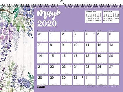 Miquelrius 28054 - Calendario de Pared A3 para escribir Flores ...