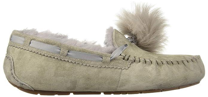 Mocasines para Mujer, Color Gris, Marca UGG, Modelo Mocasines para Mujer UGG W Dakota Pom Pom Gris: Amazon.es: Zapatos y complementos