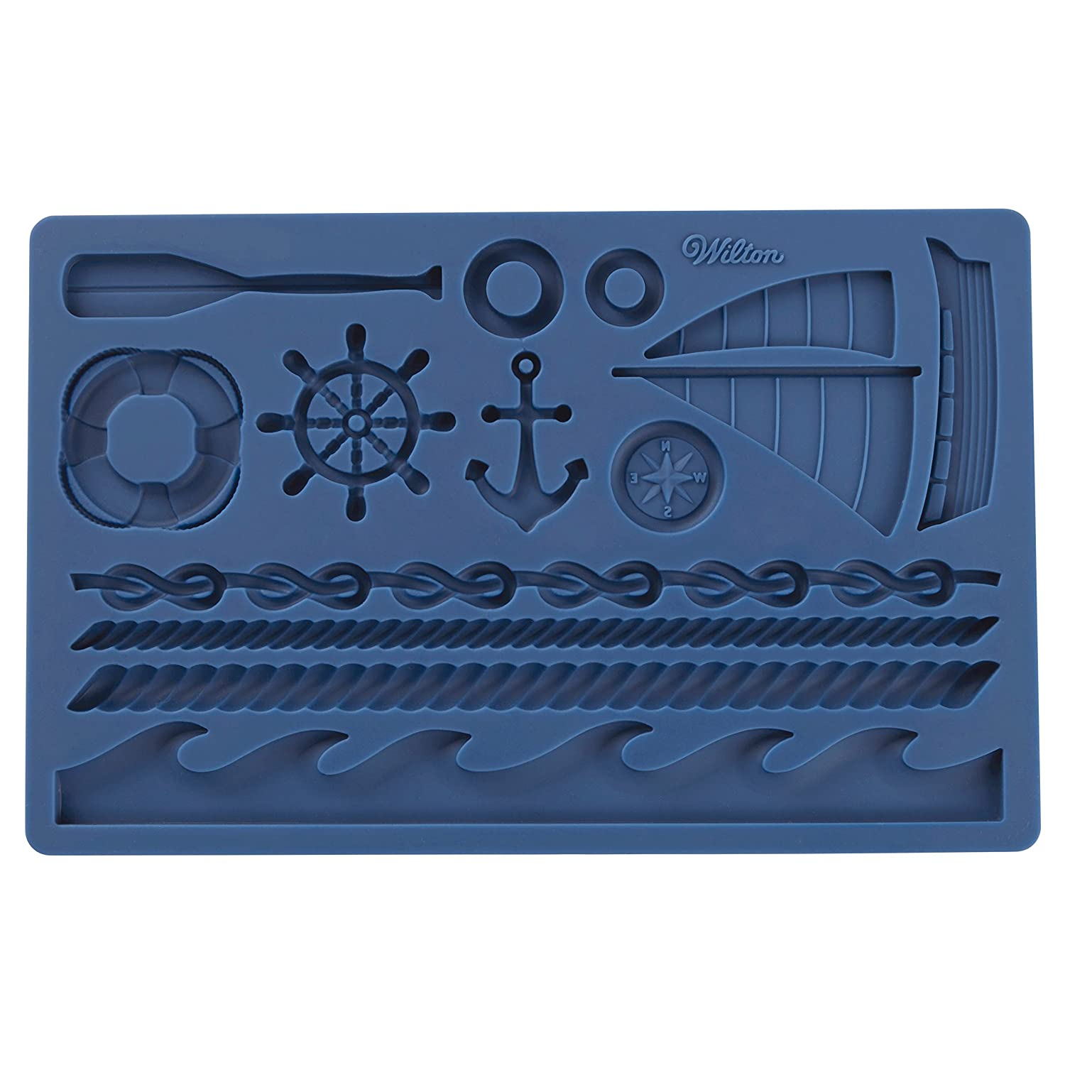 Wilton Nautical Fondant and Gum Paste Mold - Cake Decorating Supplies 409-7726