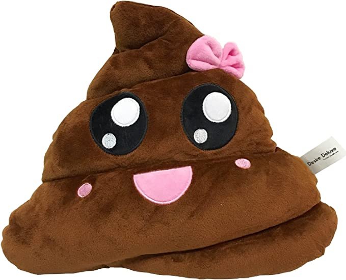 Rainbow Poo Emoji Pillow ❤ liked on