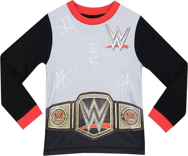 WWE Pigiama a Maniche Lunghe per Ragazzi World Wrestling Entertainment
