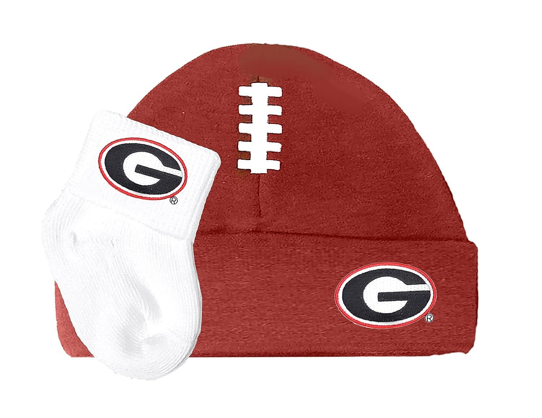 Georgia Bulldogs Footballキャップand Socksベビーギフトセット   B018VERV0S