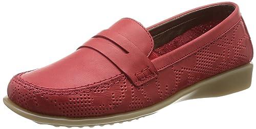 The Flexx Evergreen - Mocasines de Cuero para Mujer Rojo Rouge (Marlboro) 37: Amazon.es: Zapatos y complementos