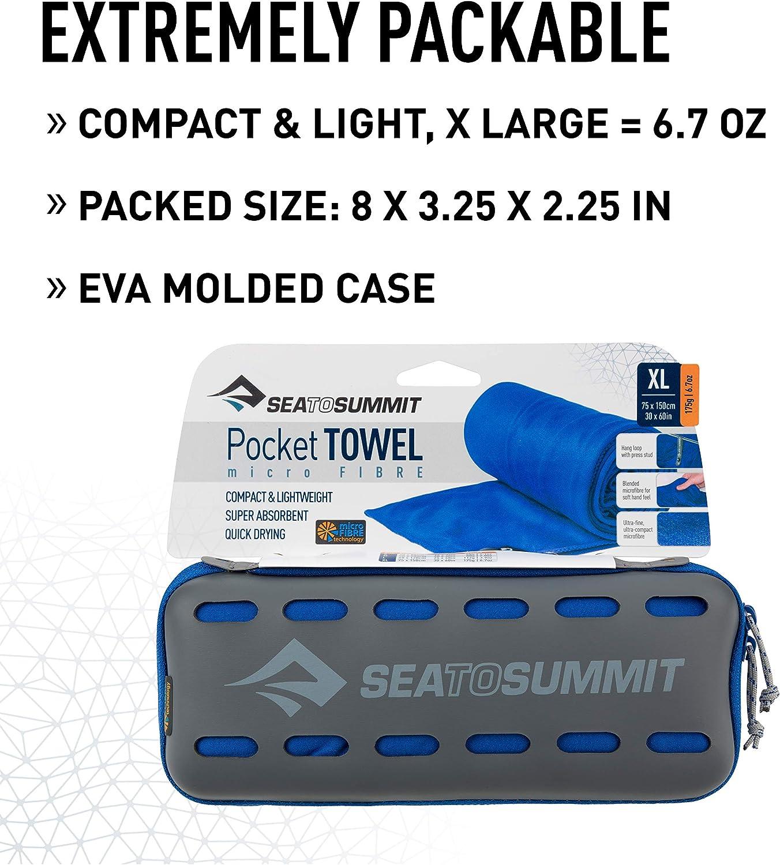 Alpinismo y Trekking Unisex Adulto Sea to Summit tek Towel X-l Toalla Monta/ñismo