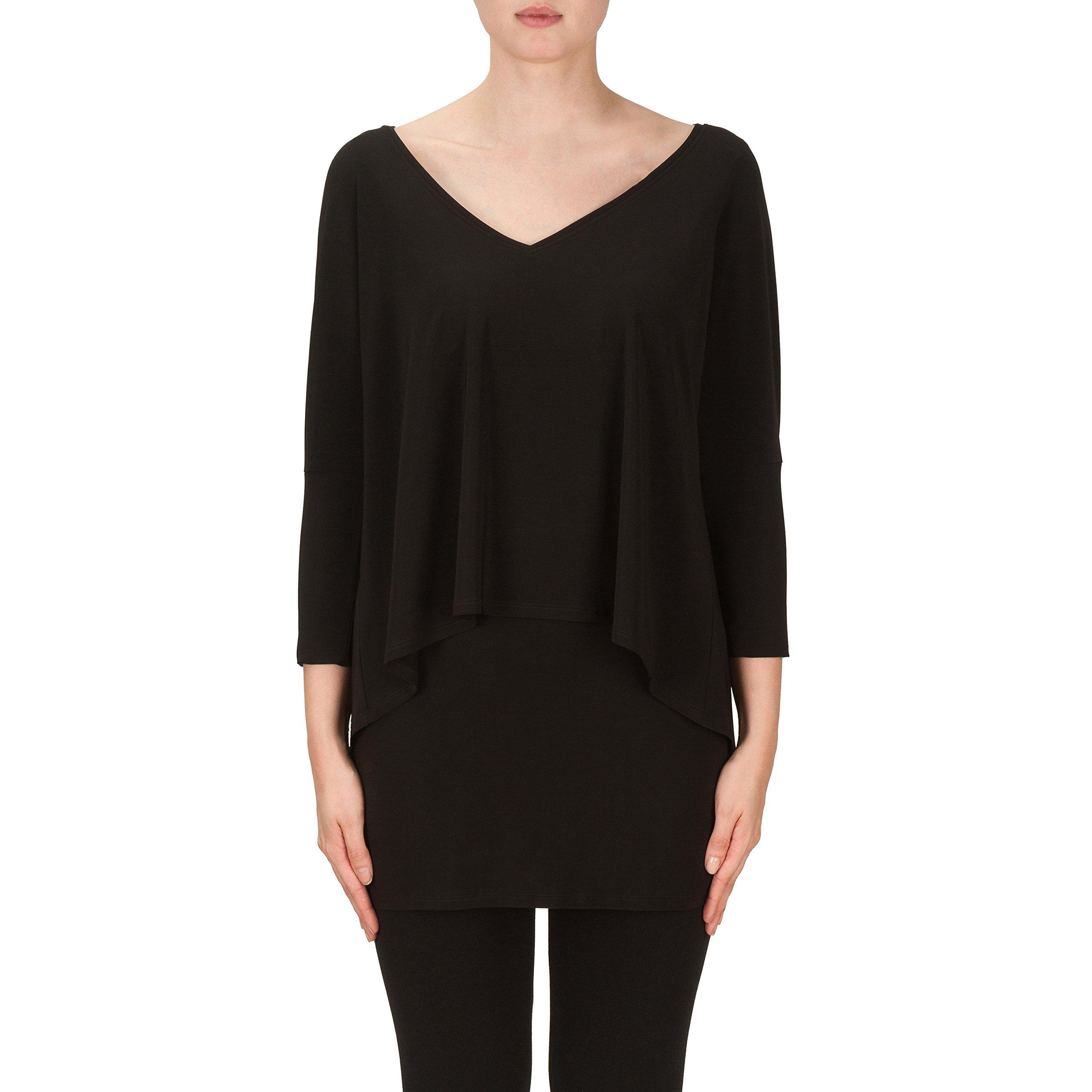 Joseph Ribkoff Black Multi Layer Tunic Top Style 171056 - Size 12