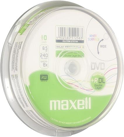 Maxell DVD+R DL 10 Pack - DVD+RW vírgenes (8,5 GB, DVD+R Dual Layer, 240 min, Caja para Pastel, 8X): Amazon.es: Informática