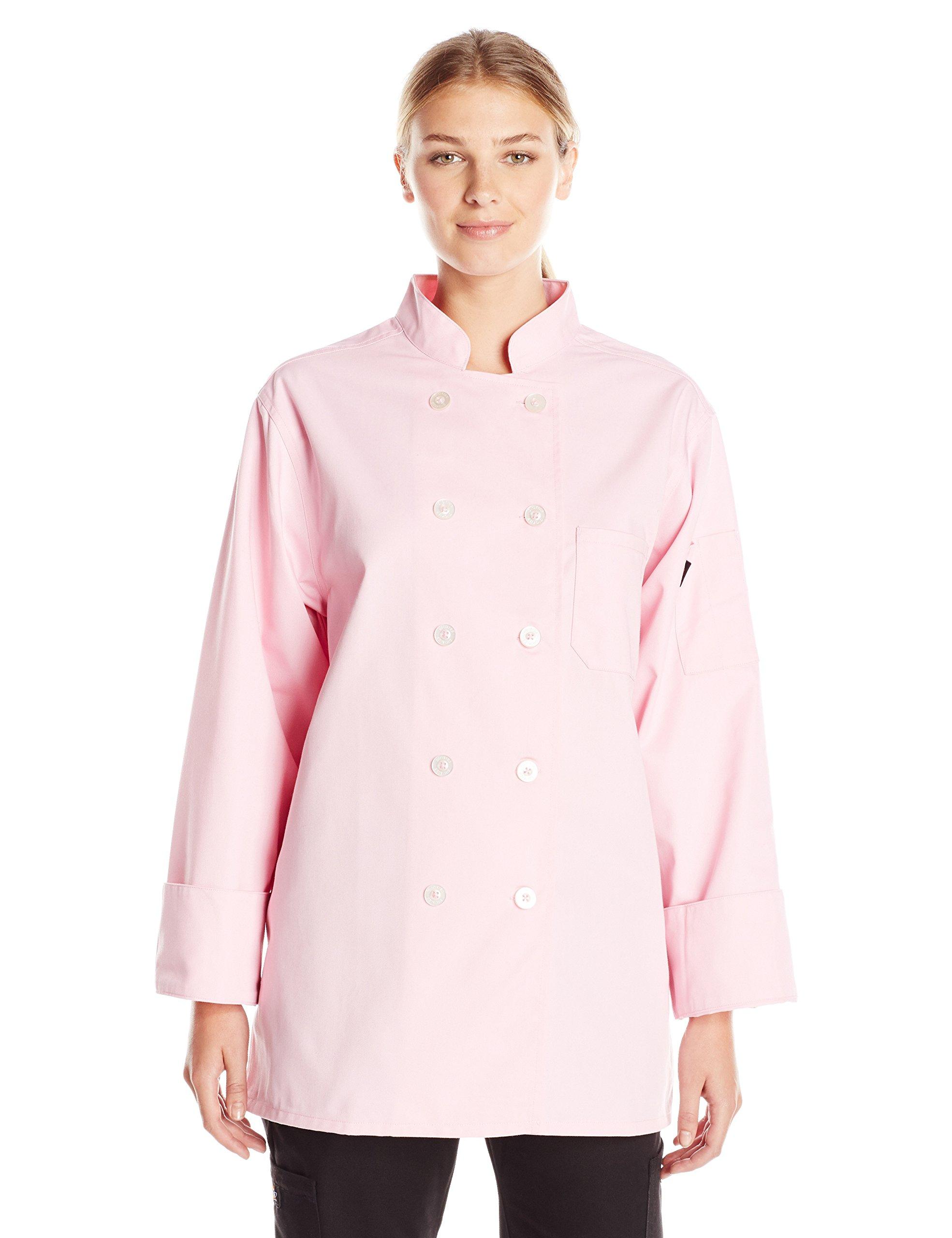 Dickies Chef Women's Classic Coat, Pink, Large