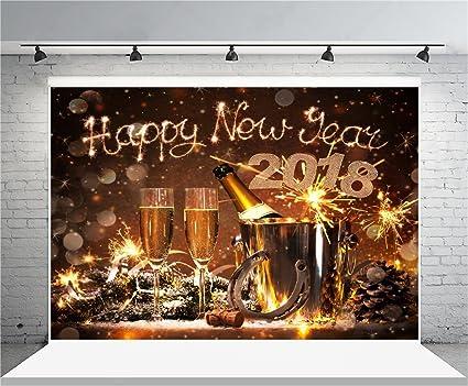 Amazon.com : AOFOTO 8x6ft Happy New Year 2018 Backdrop Party ...