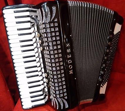 Used Borsini moderno extendido teclado negro Piano acordeón lmmh 44 120