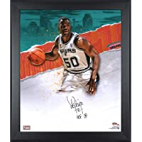 "$199 » David Robinson San Antonio Spurs Framed Autographed 20"" x 24"" In Focus Photograph - Autographed NBA Photos"