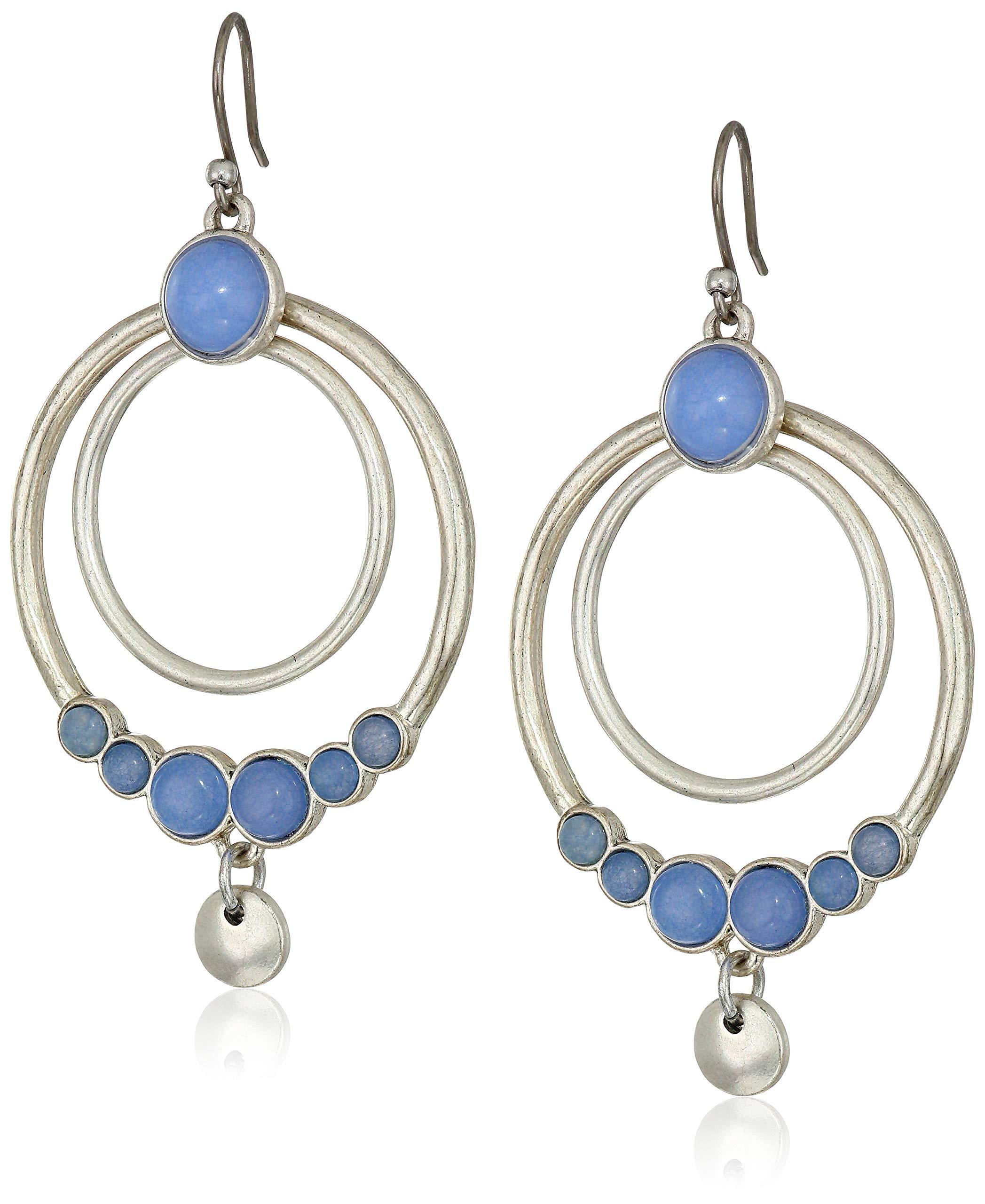 Lucky Brand Women's Orbital Set Stone Drop Earrings, Silver, One Size