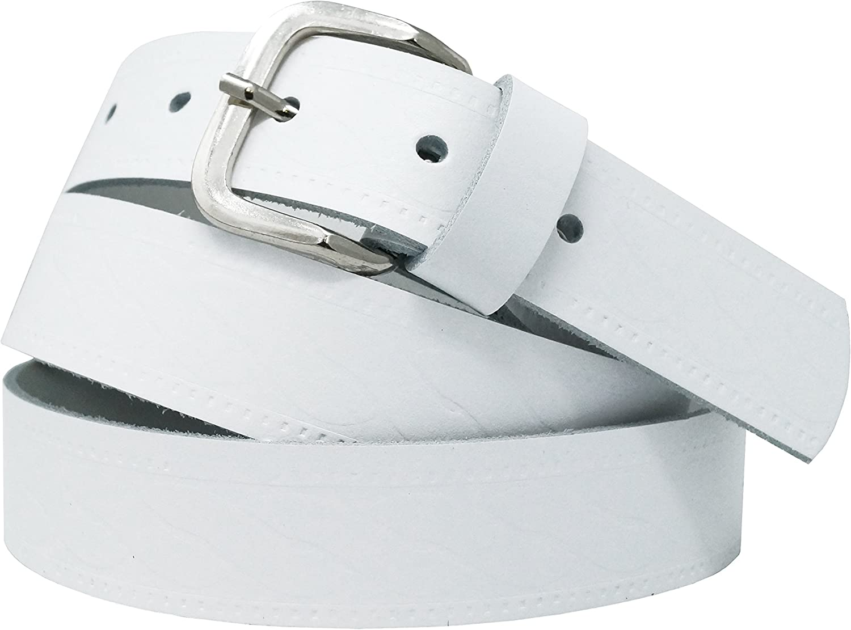 Hecho en Alemania Negro//Marr/ón//Rojo//Blanco//Gris//Burdeos Ancho 3 cm Cintur/ón de cuero real para mujeres y hombres