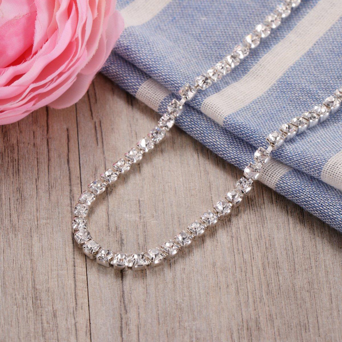 4.0MM ULTNICE Cha/îne de griffe de cha/îne de strass de cha/îne en cristal de 10M /étroitement pour la couture dartisanat de bijoux