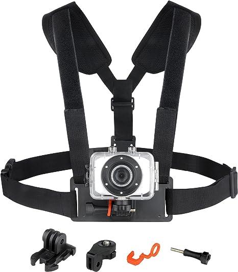 Easypix Chest Mount - Arnés para cámaras GoXtreme, negro: Amazon ...