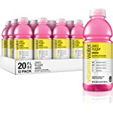 vitaminwater zero shine, strawberry-lemonade flavored, electrolyte enhanced bottled water with vitamin b5, b6, b12, 20 fl oz,