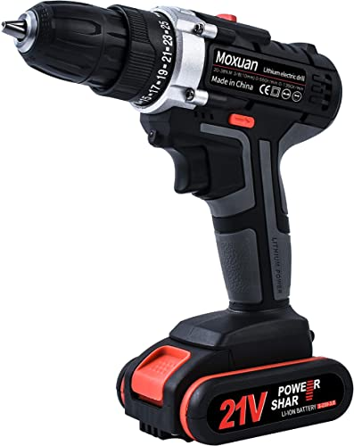 Cordless Drill Driver, Cordless Drill with 2 Batteries, 30Min Fast Charger 4.0A, 25 1 Torque Setting, 2-Variable Speed Max Torque 550 In-lbs, 3 8 Metal Keyless Chuck, 25 pcs Bits Included