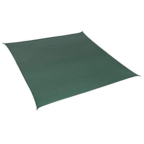 California Sun Shade 473570 Coolaroo Square Shade Sail, Heritage Green
