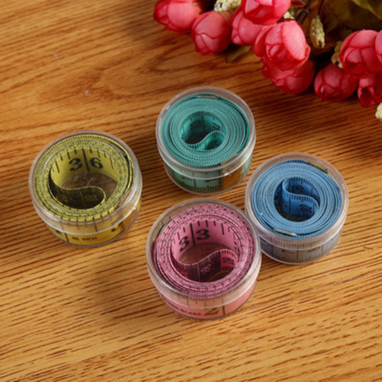 4pcs Cinta M/étrica,Cinta m/étrica de Fibra de Vidrio para Costura 4 colores Rango de medici/ón de 150 cm incluye cajas rojo, rosa, azul, verde