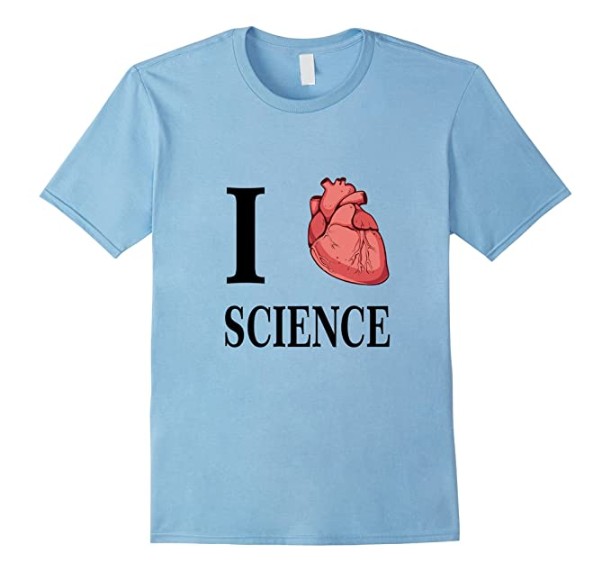 Amazon.com: I Heart Science Love Biology Anatomy Tee Shirt T-Shirt ...