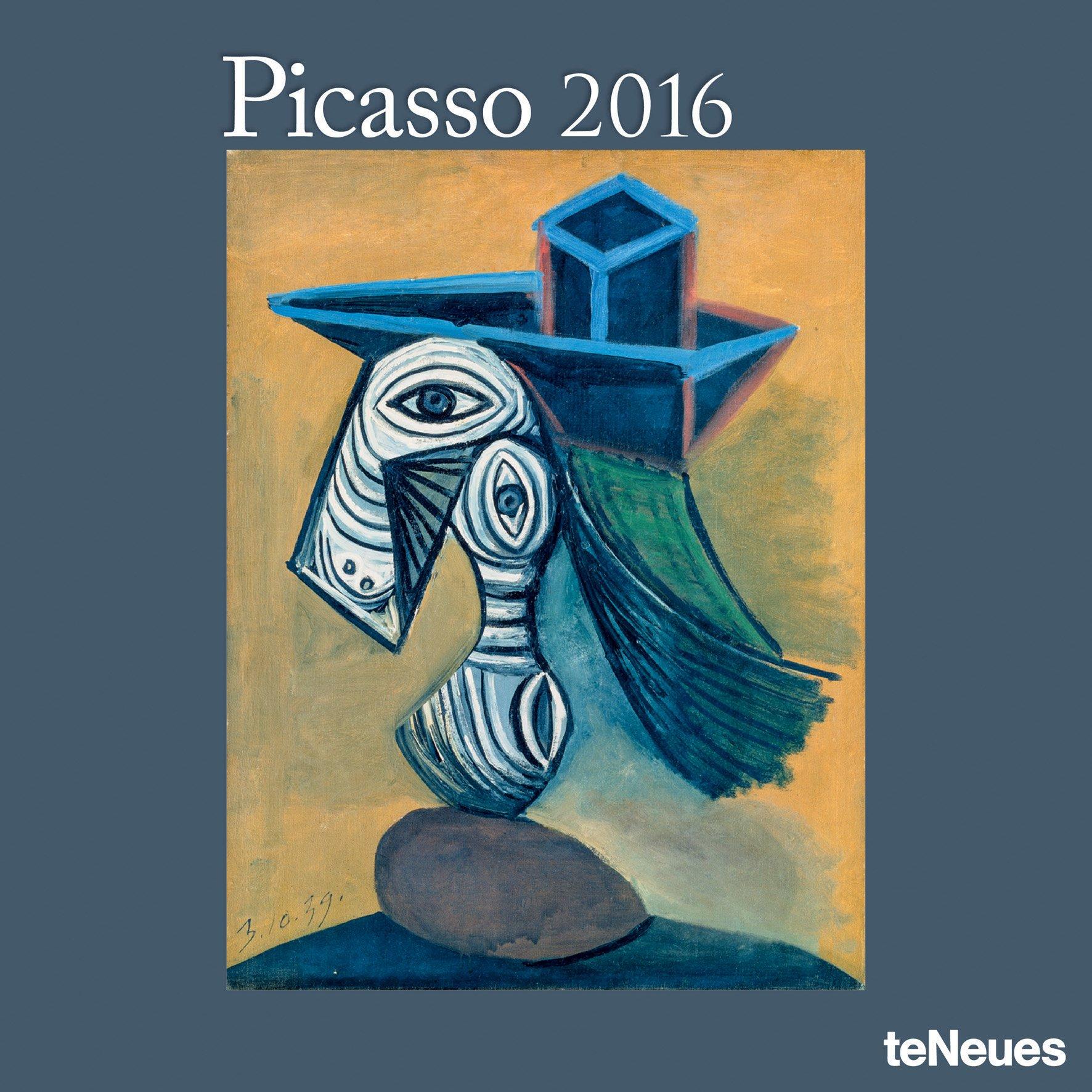 2016 pablo picasso wall calendar