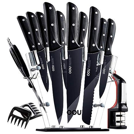 Amazon.com: OOU Pro Juego de cuchillos de cocina, 15 piezas ...