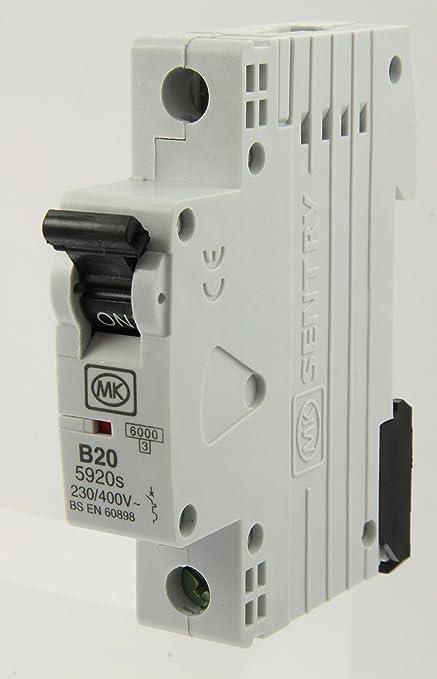 MK 59  Series BS EN 60898 Sentry MCB Circuit Breaker CHECK PHOTO