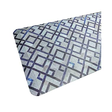 Anti Fatigue Comfort Floor Mat By Sky Mats - Commercial Grade Quality Perfect for Standup Desks, Kitchens, and Garages - Relieves Foot, Knee, and Back Pain, 20x39 Inch, Blue Diamonds Pattern