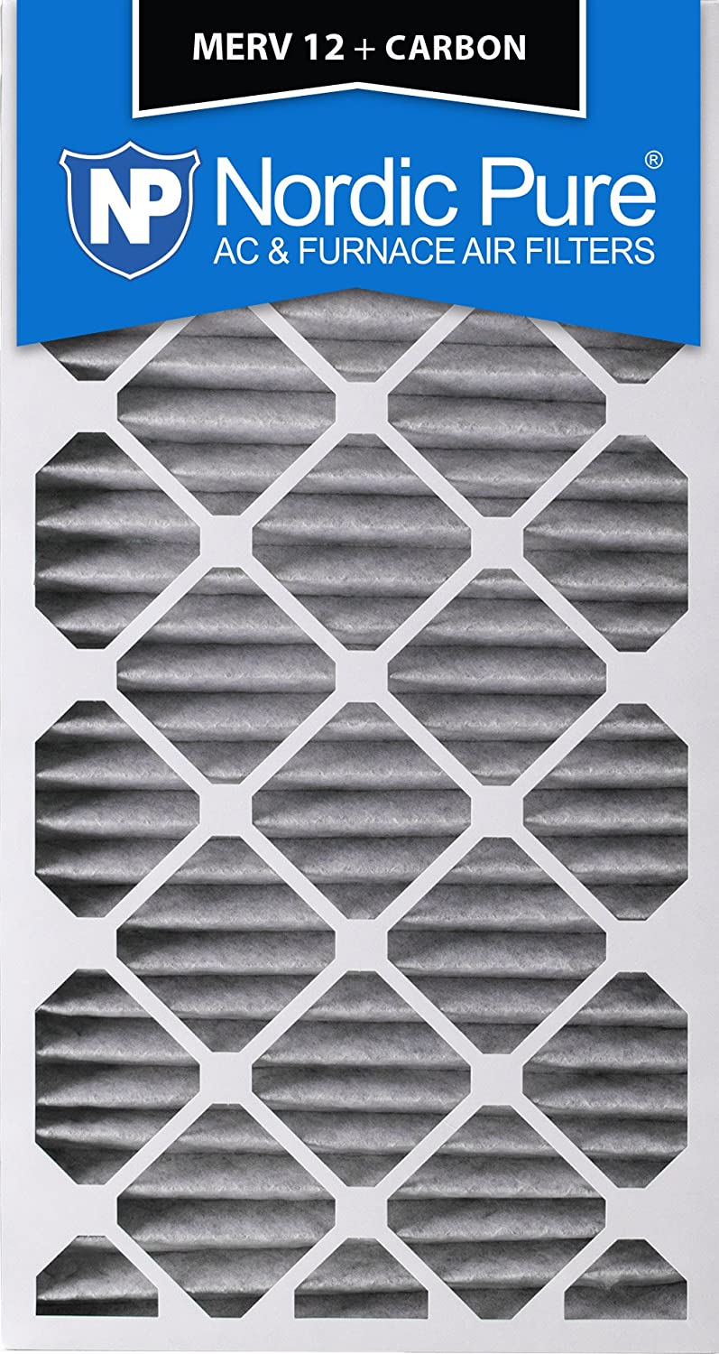 3 Piece Nordic Pure 24x30x2 MERV 12 Pleated Plus Carbon AC Furnace Air Filters 24 x 30 x 2
