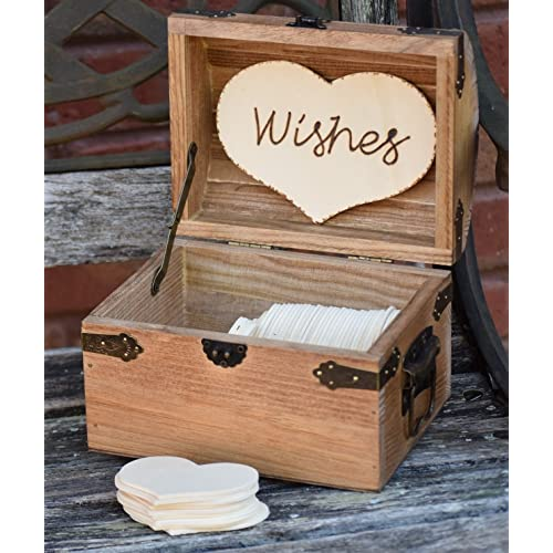 Personalized Rustic Wedding Wood Chest - Guest Book Alternative - Shabby Shic Wedding - Advice Box - Wedding Wishing Well